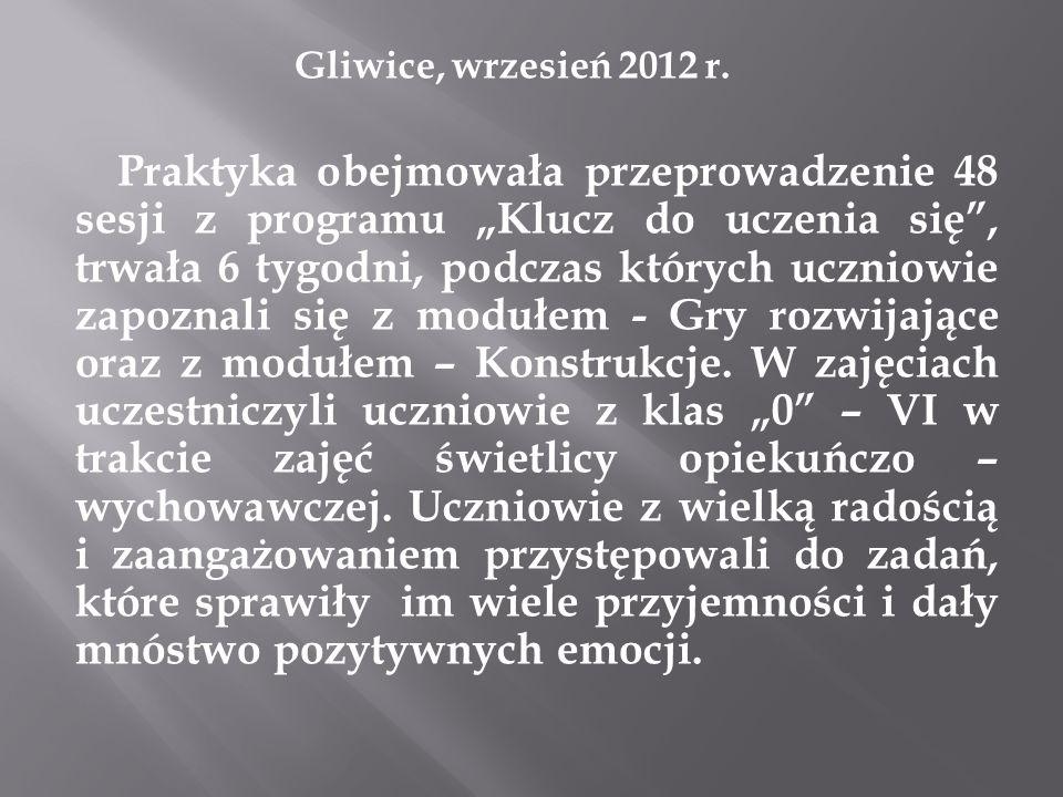 Gliwice, wrzesień 2012 r.