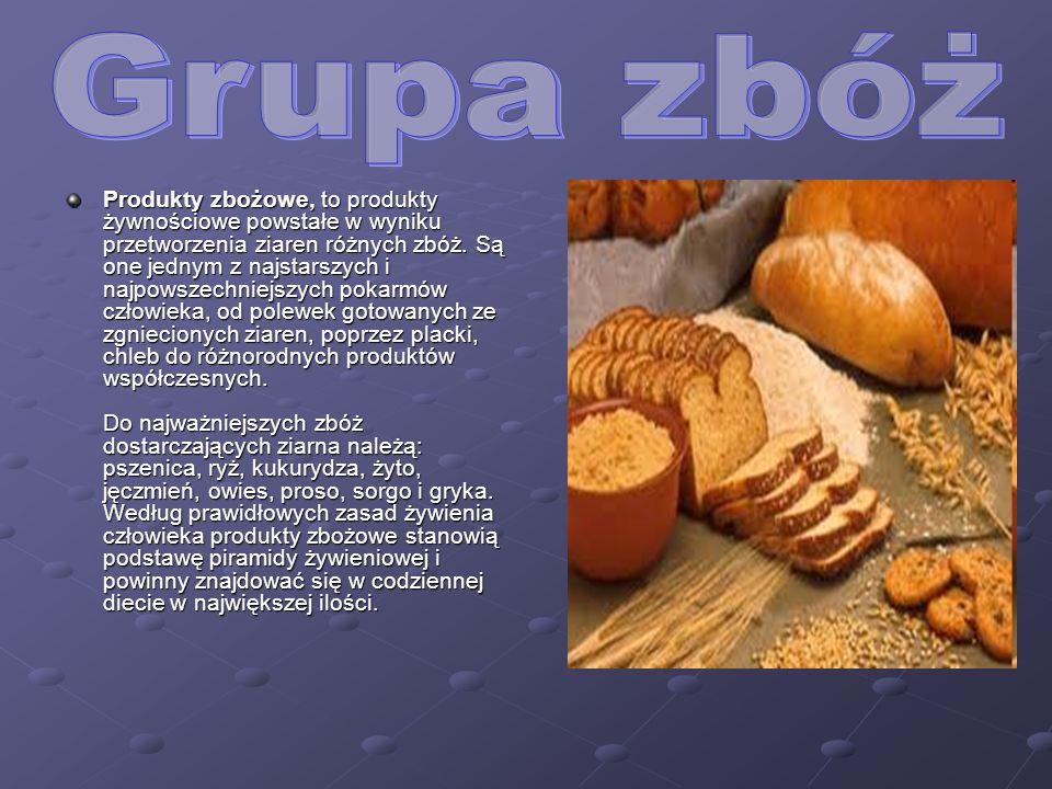 Produkty zbożowe, to produkty żywnościowe powstałe w wyniku przetworzenia ziaren różnych zbóż.