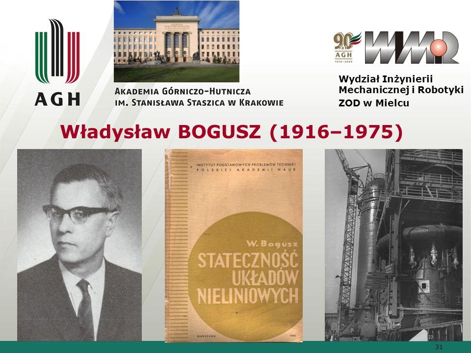 31 Wydział Inżynierii Mechanicznej i Robotyki ZOD w Mielcu Władysław BOGUSZ (1916–1975)