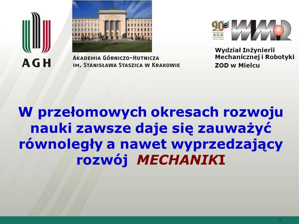 38 Wydział Inżynierii Mechanicznej i Robotyki ZOD w Mielcu