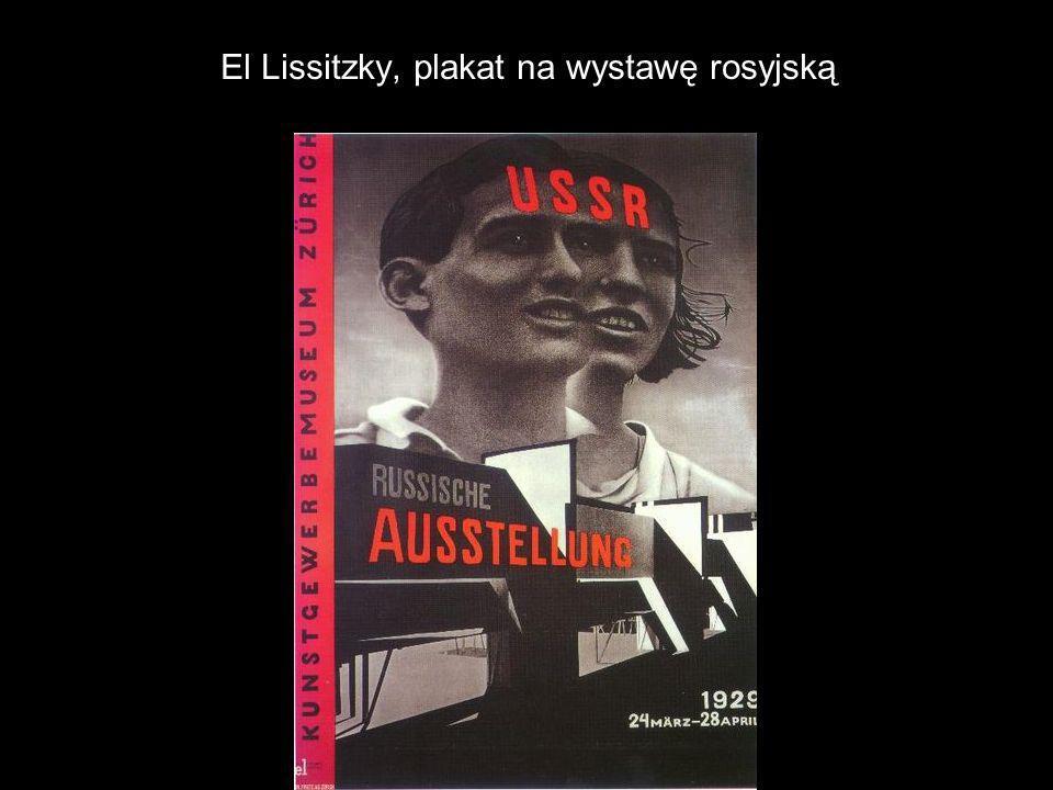 El Lissitzky, plakat na wystawę rosyjską