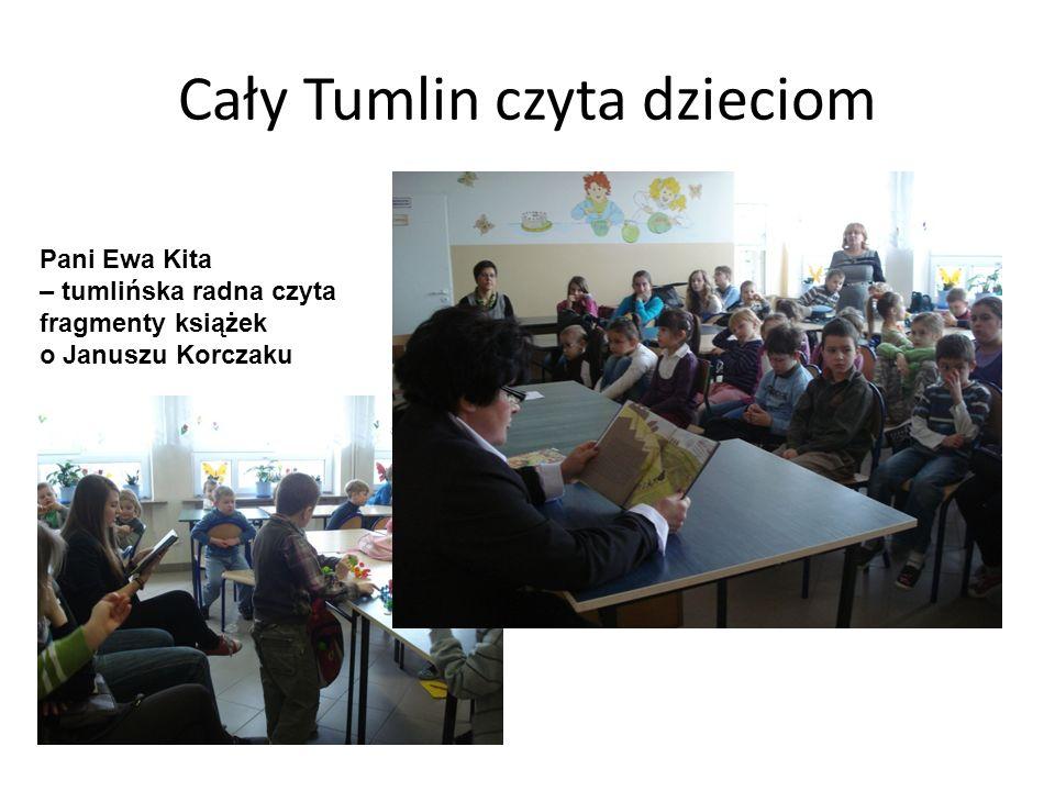 Cały Tumlin czyta dzieciom Pani Ewa Kita – tumlińska radna czyta fragmenty książek o Januszu Korczaku