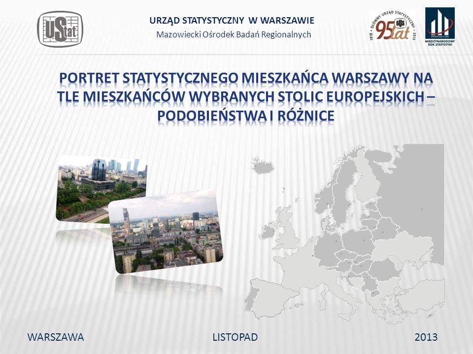 WARSZAWALISTOPAD2013 Mazowiecki Ośrodek Badań Regionalnych URZĄD STATYSTYCZNY W WARSZAWIE