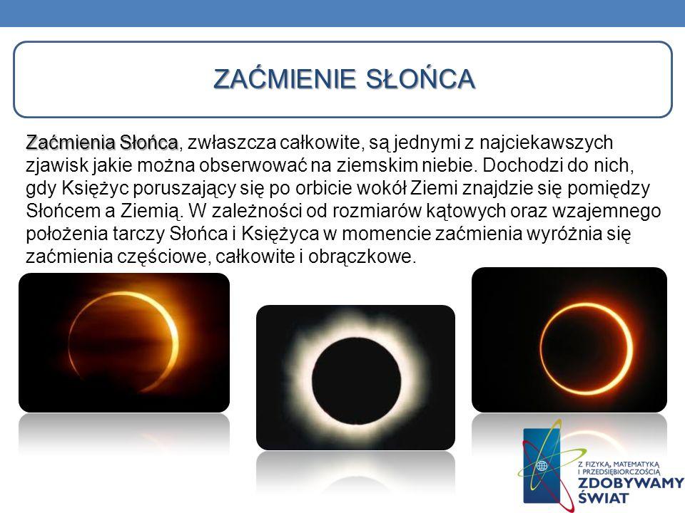 ZAĆMIENIE SŁOŃCA Zaćmienia Słońca Zaćmienia Słońca, zwłaszcza całkowite, są jednymi z najciekawszych zjawisk jakie można obserwować na ziemskim niebie