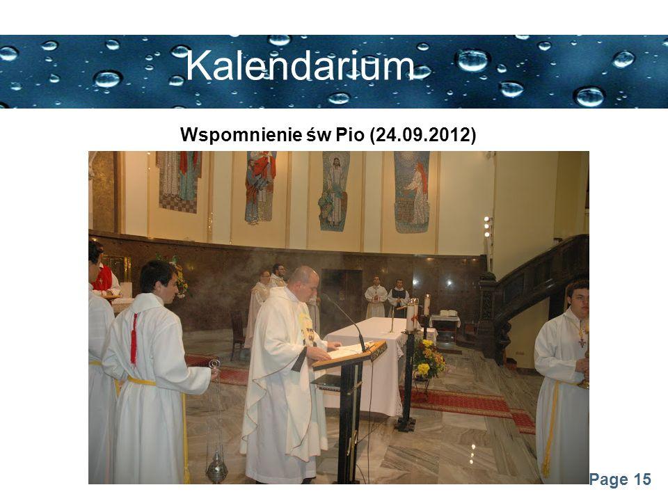 Page 15 Kalendarium Wspomnienie św Pio (24.09.2012)