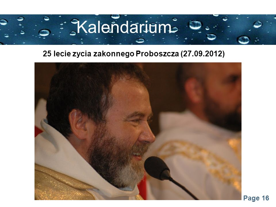 Page 16 Kalendarium 25 lecie zycia zakonnego Proboszcza (27.09.2012)