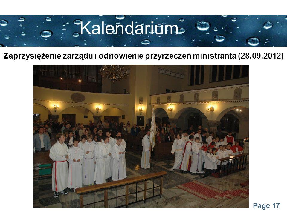 Page 17 Kalendarium Zaprzysiężenie zarządu i odnowienie przyrzeczeń ministranta (28.09.2012)