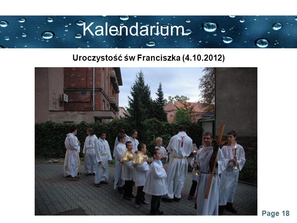 Page 18 Kalendarium Uroczystość św Franciszka (4.10.2012)