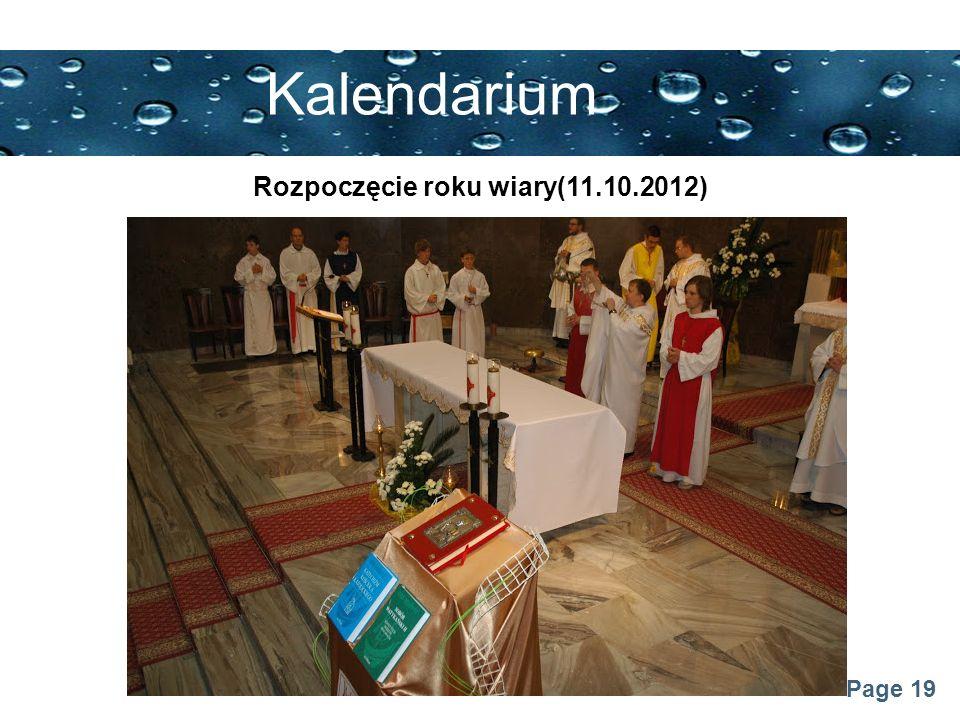 Page 19 Kalendarium Rozpoczęcie roku wiary(11.10.2012)