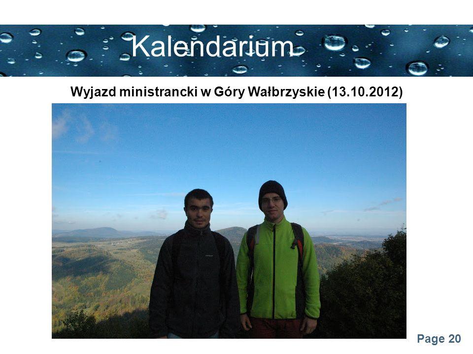 Page 20 Kalendarium Wyjazd ministrancki w Góry Wałbrzyskie (13.10.2012)