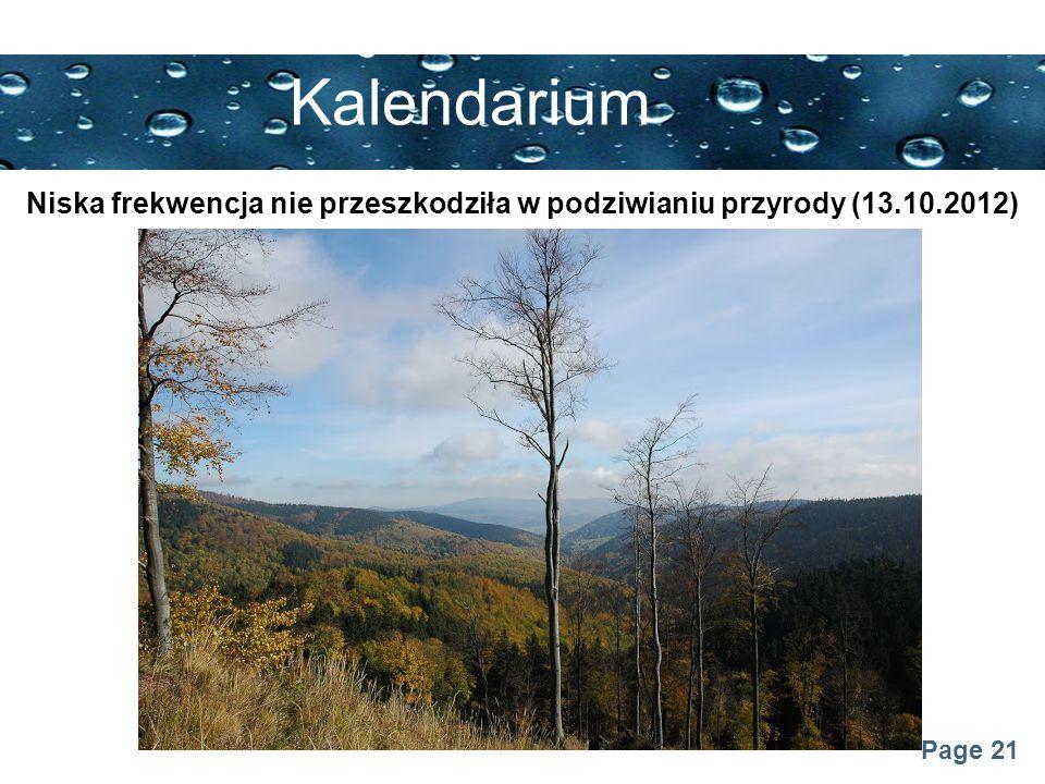 Page 21 Kalendarium Niska frekwencja nie przeszkodziła w podziwianiu przyrody (13.10.2012)