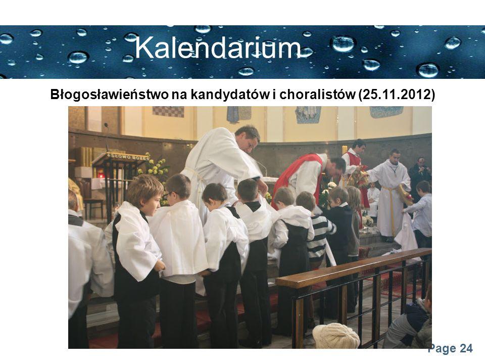 Page 24 Kalendarium Błogosławieństwo na kandydatów i choralistów (25.11.2012)
