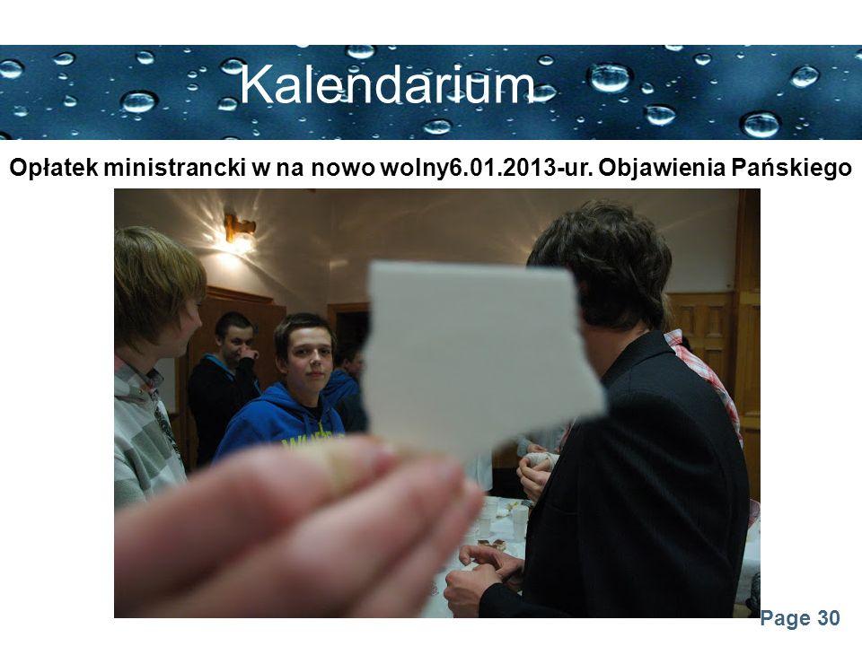 Page 30 Kalendarium Opłatek ministrancki w na nowo wolny6.01.2013-ur. Objawienia Pańskiego