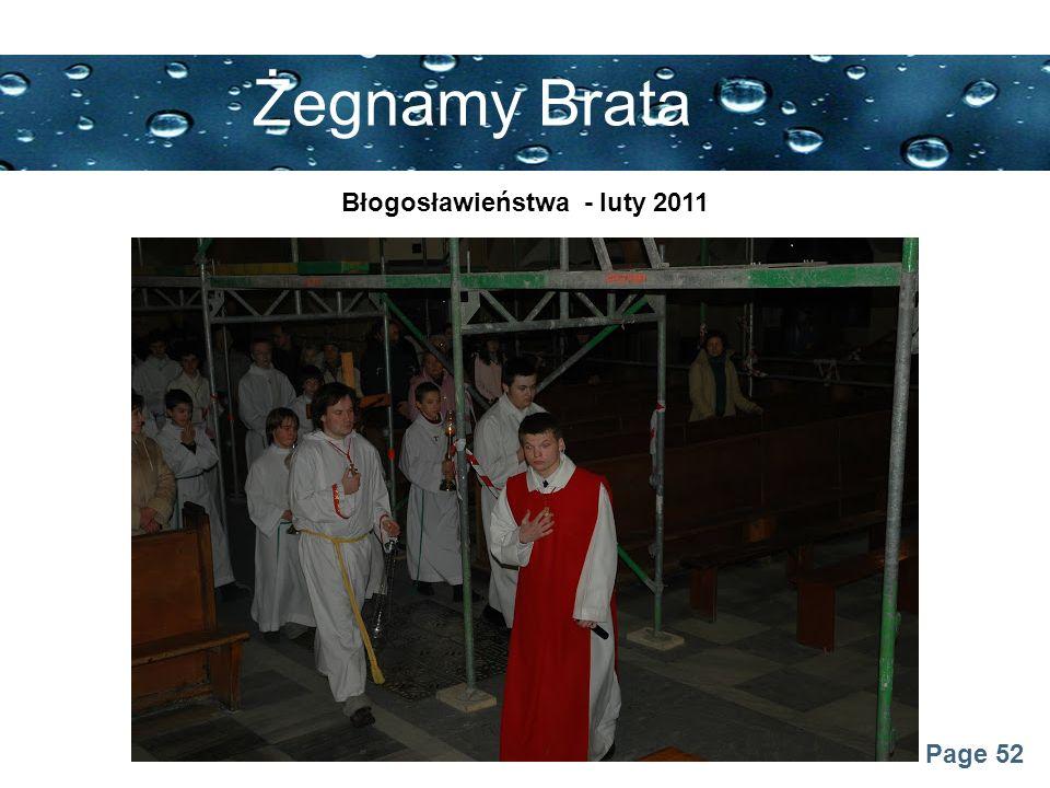 Page 52 Żegnamy Brata Błogosławieństwa - luty 2011
