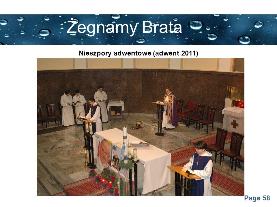 Page 58 Żegnamy Brata Nieszpory adwentowe (adwent 2011)