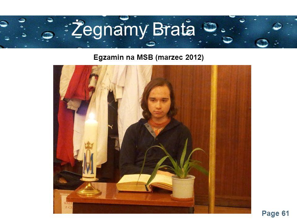 Page 61 Żegnamy Brata Egzamin na MSB (marzec 2012)