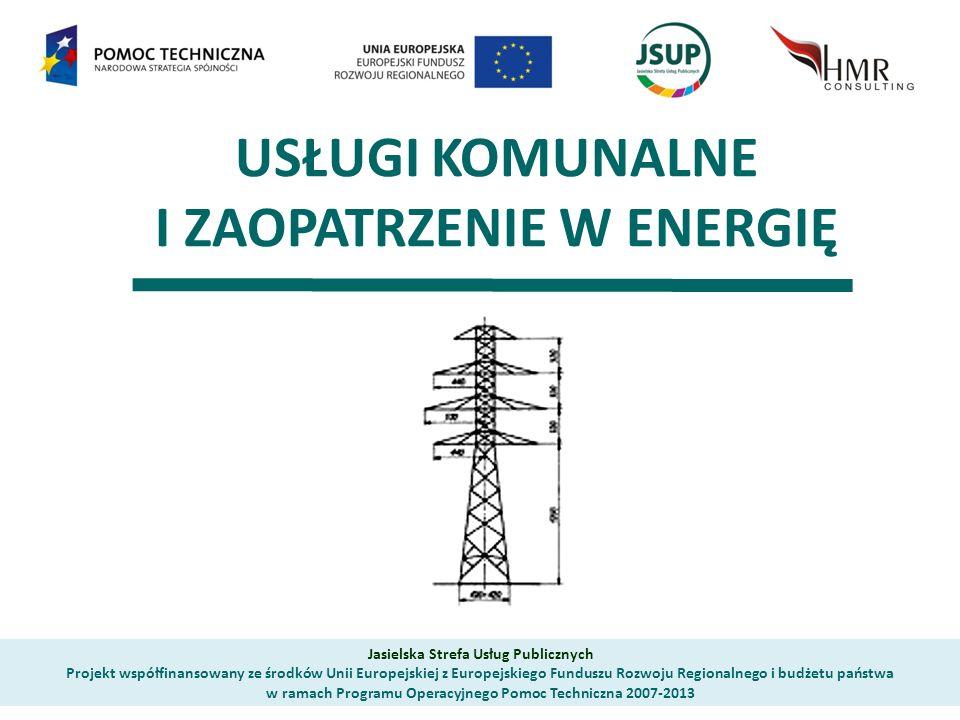 USŁUGI KOMUNALNE I ZAOPATRZENIE W ENERGIĘ Jasielska Strefa Usług Publicznych Projekt współfinansowany ze środków Unii Europejskiej z Europejskiego Funduszu Rozwoju Regionalnego i budżetu państwa w ramach Programu Operacyjnego Pomoc Techniczna 2007-2013