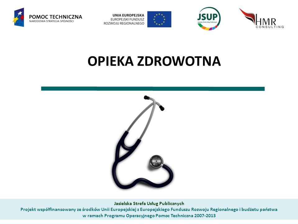 OPIEKA ZDROWOTNA Jasielska Strefa Usług Publicznych Projekt współfinansowany ze środków Unii Europejskiej z Europejskiego Funduszu Rozwoju Regionalnego i budżetu państwa w ramach Programu Operacyjnego Pomoc Techniczna 2007-2013