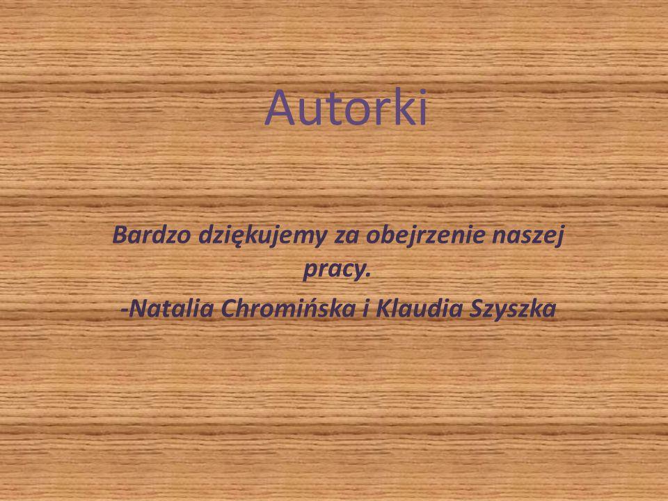 Autorki Bardzo dziękujemy za obejrzenie naszej pracy. -Natalia Chromińska i Klaudia Szyszka