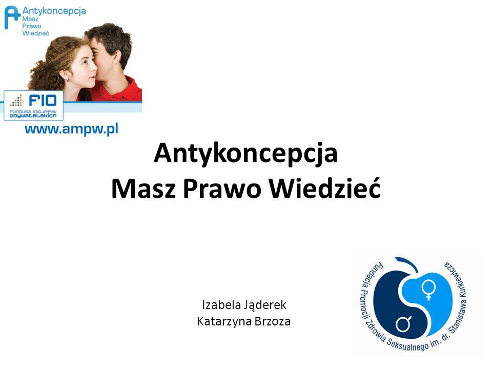 Antykoncepcja Masz Prawo Wiedzieć Izabela Jąderek Katarzyna Brzoza