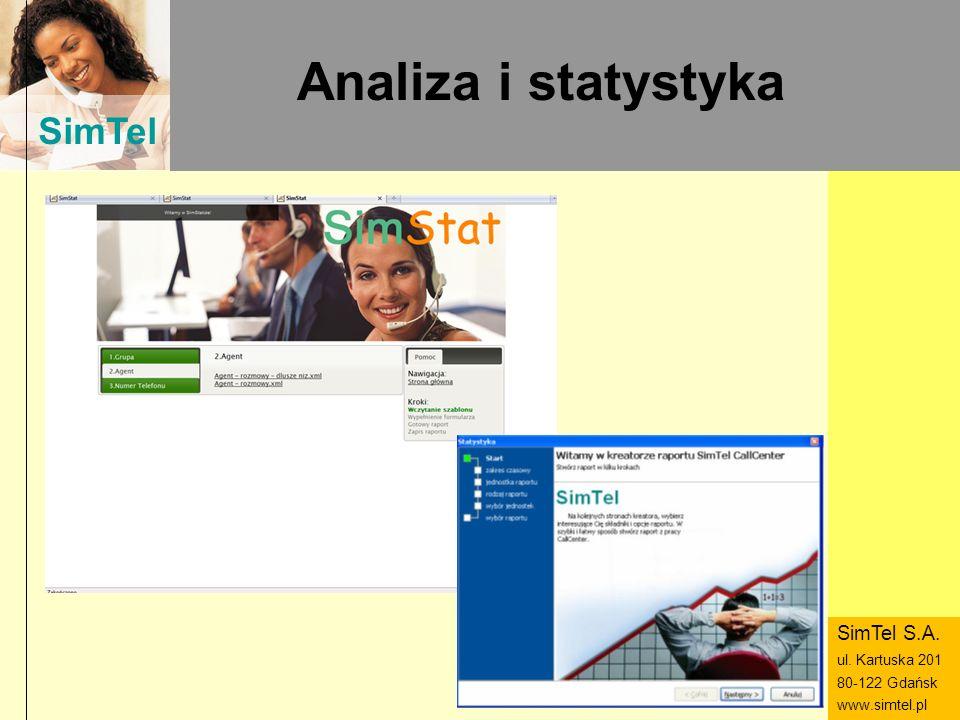 SimTel ul. Hubala 14 80-289 Gdańsk www.simtel.pl SimTel Analiza i statystyka SimTel S.A. ul. Kartuska 201 80-122 Gdańsk www.simtel.pl