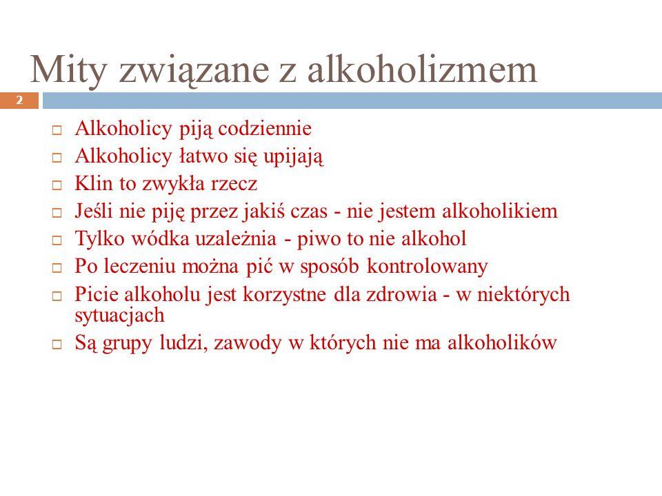 Zespoły związane z używaniem i nadużywaniem alkoholu: 3 1.