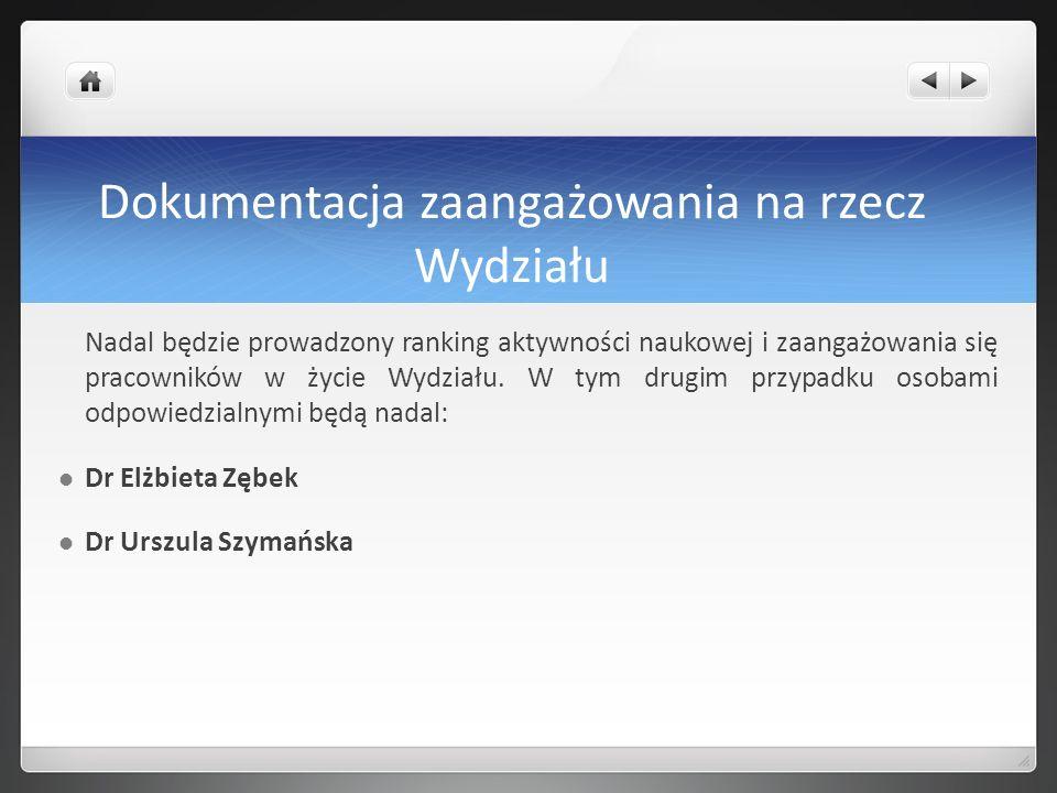 Promocja Wydziału Referuje mgr Katarzyna Jaworska