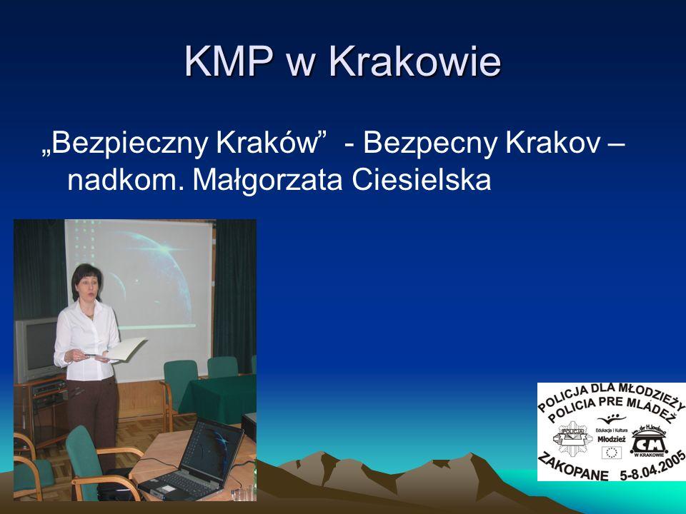 KMP w Krakowie Bezpieczny Kraków - Bezpecny Krakov – nadkom. Małgorzata Ciesielska