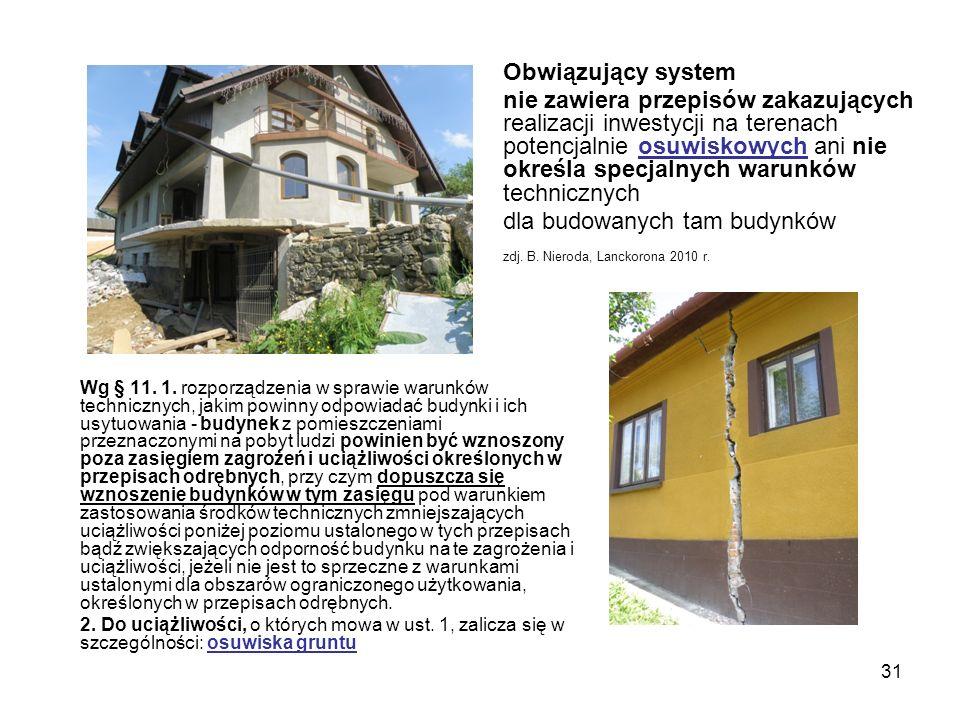 31 Wg § 11. 1. rozporządzenia w sprawie warunków technicznych, jakim powinny odpowiadać budynki i ich usytuowania - budynek z pomieszczeniami przeznac