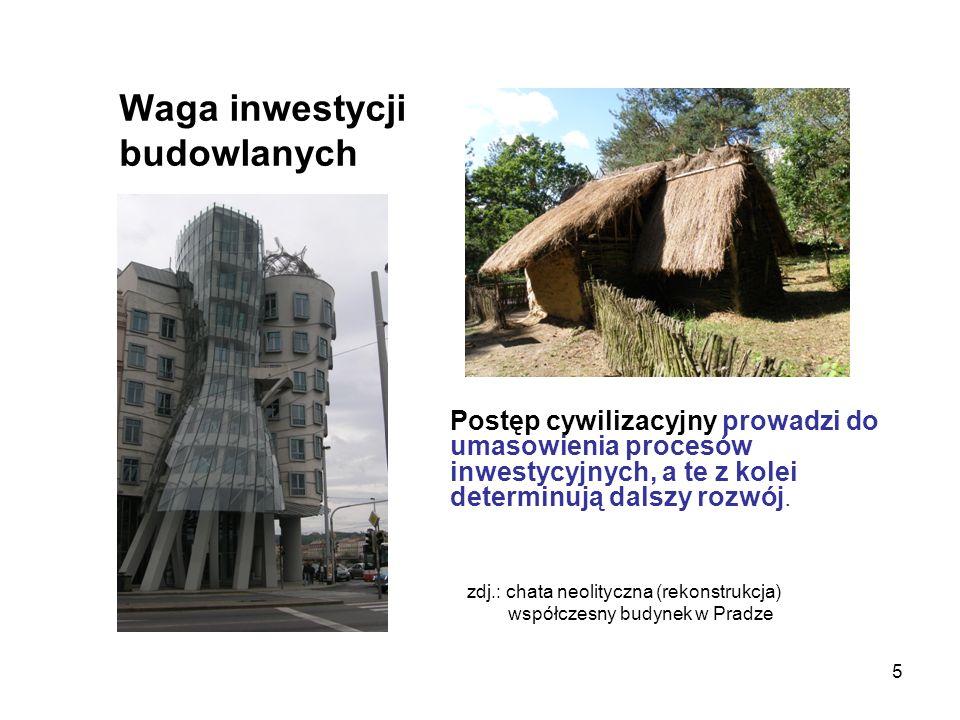 5 Waga inwestycji budowlanych Postęp cywilizacyjny prowadzi do umasowienia procesów inwestycyjnych, a te z kolei determinują dalszy rozwój. zdj.: chat