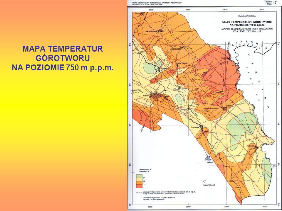 MAPA TEMPERATUR GÓROTWORU NA POZIOMIE 750 m p.p.m.