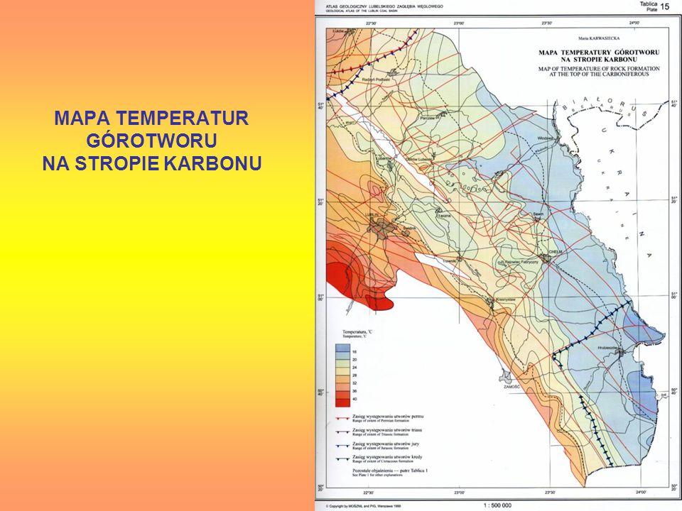 MAPA TEMPERATUR GÓROTWORU NA STROPIE KARBONU