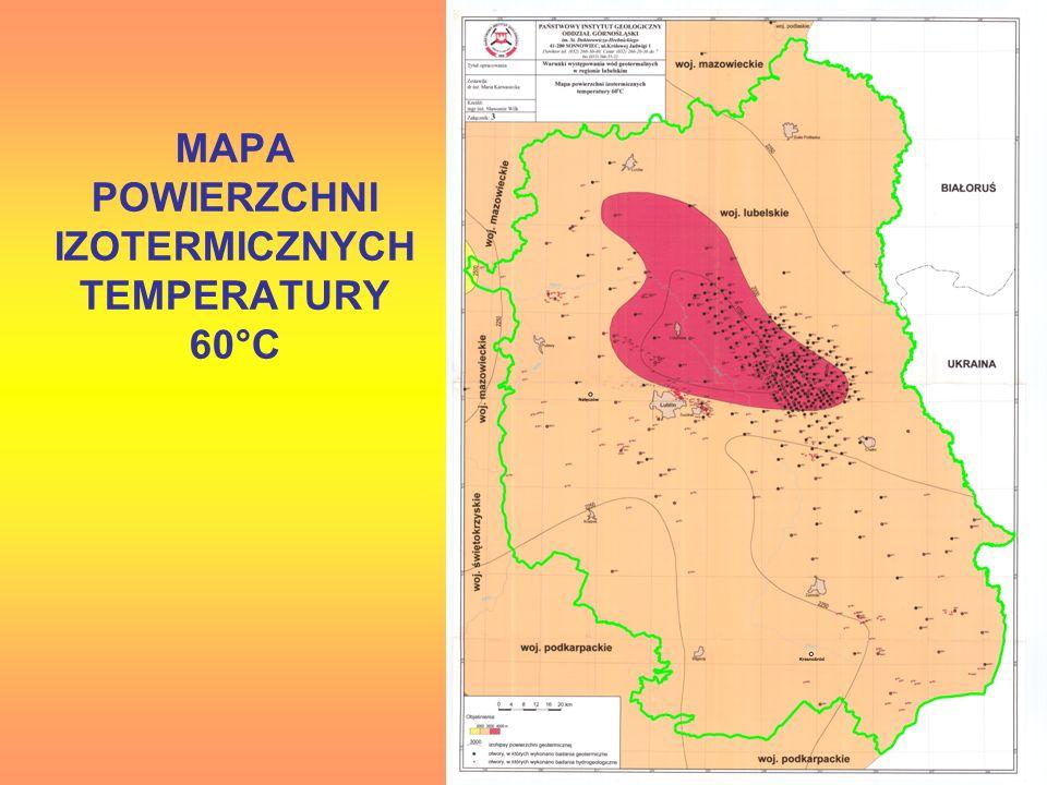 MAPA POWIERZCHNI IZOTERMICZNYCH TEMPERATURY 60°C