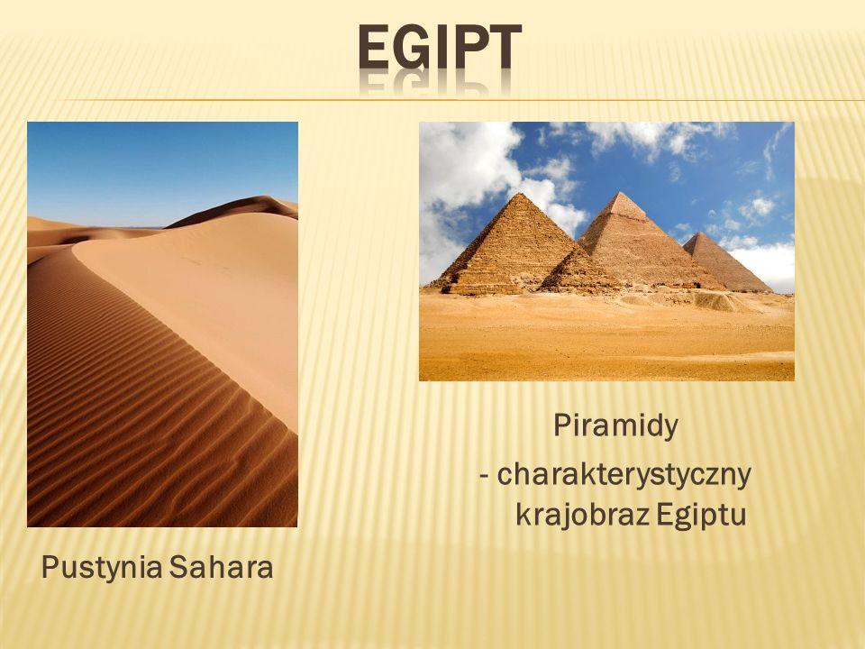 Piramidy - charakterystyczny krajobraz Egiptu Pustynia Sahara