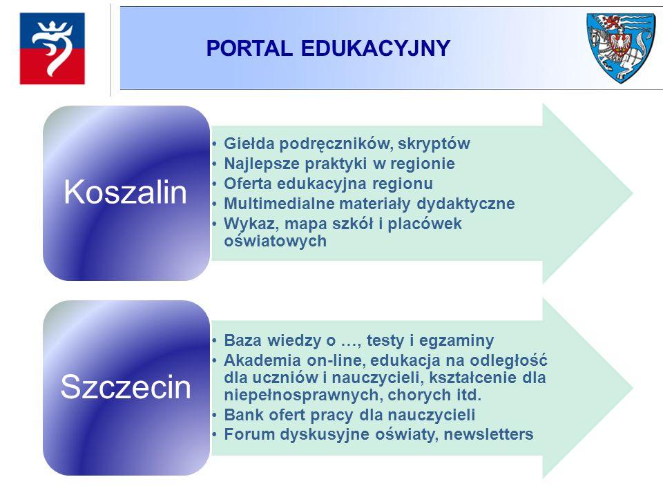 PORTAL EDUKACYJNY Giełda podręczników, skryptów Najlepsze praktyki w regionie Oferta edukacyjna regionu Multimedialne materiały dydaktyczne Wykaz, map