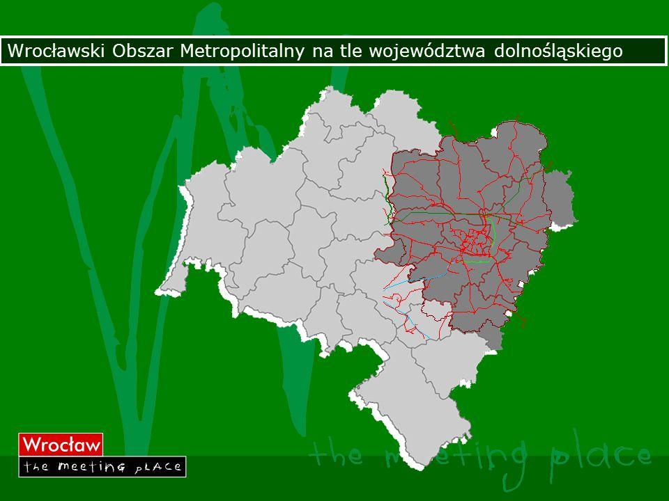 Wrocławski Obszar Metropolitalny na tle województwa dolnośląskiego