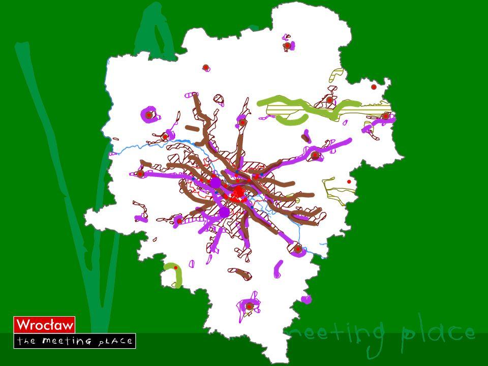 Wrocławski Obszar Metropolitalny Obszar metropolitalny wyznaczony został w oparciu o klasyfikację NUTS, na poziomie NUTS 3 – podregionu. Obejmuje on p