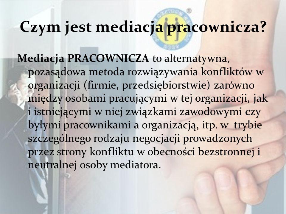 Czym jest mediacja pracownicza.