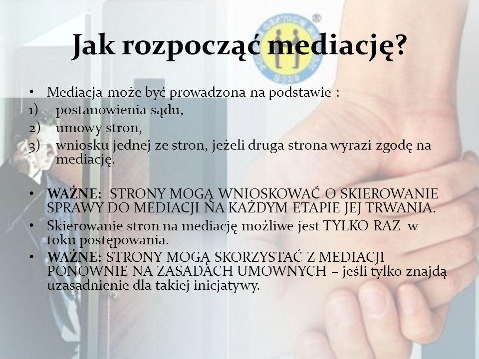 Czy można odmówić udziału w mediacji.MEDIACJA JEST PROCESEM DOBROWOLNYM!!!.