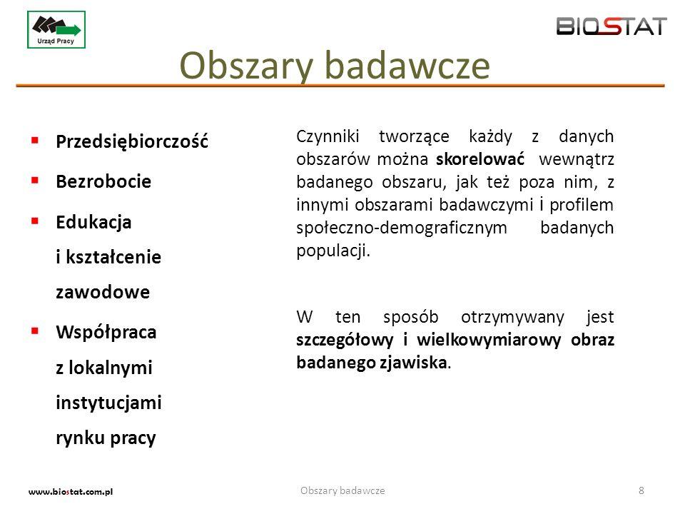Badania ewaluacyjne19 www.biostat.com.pl Badania ewaluacyjne Projekty organizowane w ramach działań, związanych z Unią Europejską i jej funduszami, a także dofinansowaniem ze strony pozostałych instytucji administracji publicznej, wymagają często stałego monitoringu oraz badania ich efektywności.