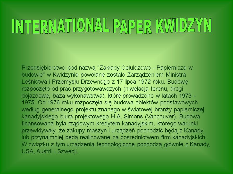 Przedsiębiorstwo pod nazwą Zakłady Celulozowo - Papiernicze w budowie w Kwidzynie powołane zostało Zarządzeniem Ministra Leśnictwa i Przemysłu Drzewnego z 17 lipca 1972 roku.