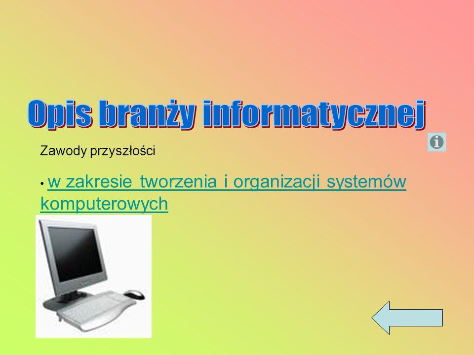 Zawody przyszłości w zakresie tworzenia i organizacji systemów komputerowych w zakresie tworzenia i organizacji systemów komputerowych