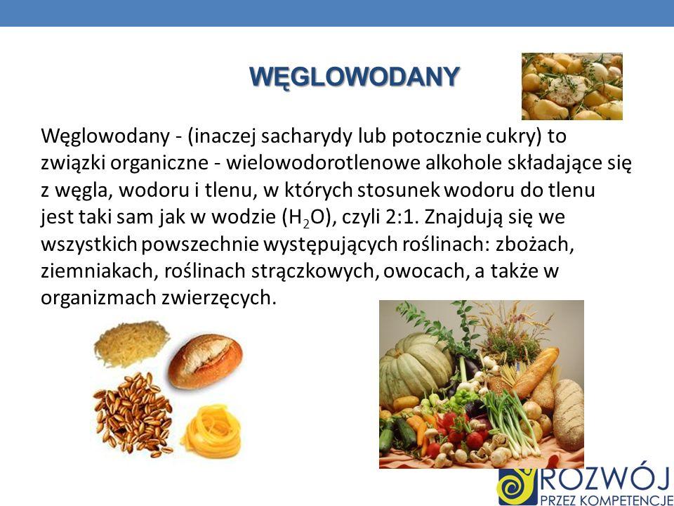 WĘGLOWODANY Węglowodany - (inaczej sacharydy lub potocznie cukry) to związki organiczne - wielowodorotlenowe alkohole składające się z węgla, wodoru i