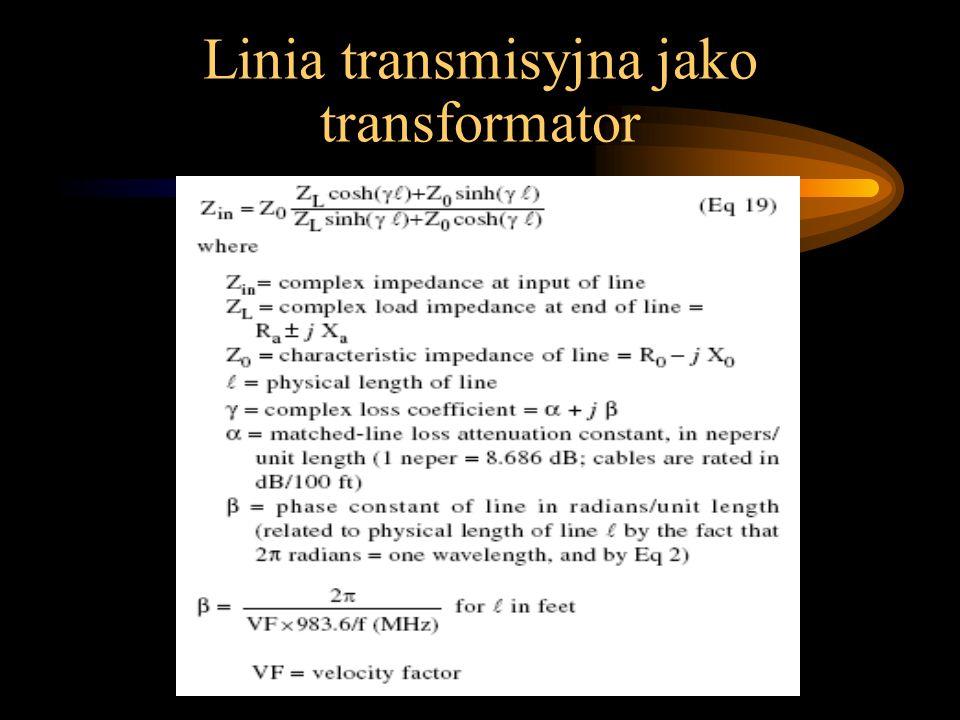 Linia transmisyjna jako transformator