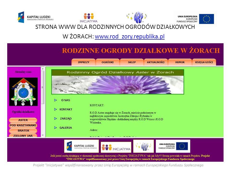 STRONA WWW DLA RODZINNYCH OGRODÓW DZIAŁKOWYCH W ŻORACH: www.rod_zory.republika.plwww.rod_zory.republika.pl