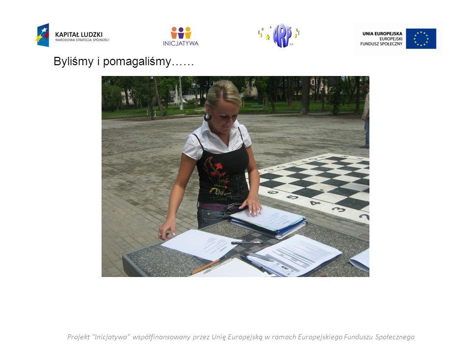 Projekt Inicjatywa współfinansowany przez Unię Europejską w ramach Europejskiego Funduszu Społecznego Byliśmy i pomagaliśmy……
