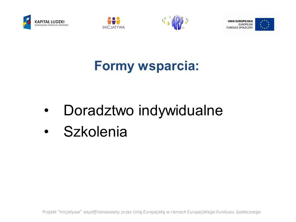 Doradztwo : Profesjonalna kadra -Świadczone jest przez doświadczonych ekspertów, Indywidualne podejście ( każda organizacja jest inna) – Konsultant to specjalista w danej dziedzinie, Cenimy Wasz Czas: elastyczne godziny świadczonych usług w ustalonym miejscu i czasie, Projekt Inicjatywa współfinansowany przez Unię Europejską w ramach Europejskiego Funduszu Społecznego