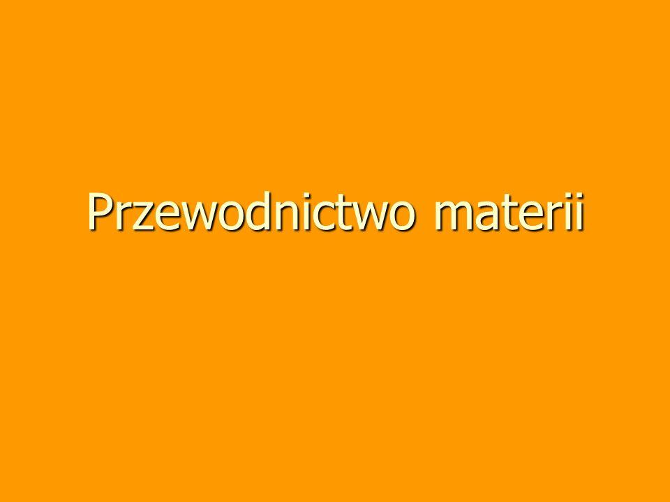 Tadeusz Hilczer - Oddziaływanie (wykład monograficzny) 4 Przewodnictwo materii materia złożona z atomów, drobin, makromolekuł, itd.
