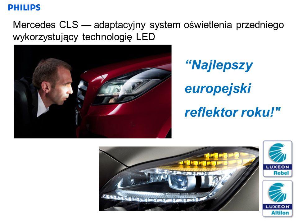 21 Mercedes CLS adaptacyjny system oświetlenia przedniego wykorzystujący technologię LED Najlepszy europejski reflektor roku!