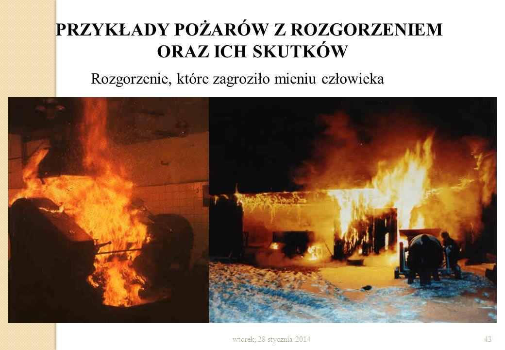 wtorek, 28 stycznia 201442 PRZYKŁADY POŻARÓW Z ROZGORZENIEM ORAZ ICH SKUTKÓW Pożar szpitala w Szczecinie
